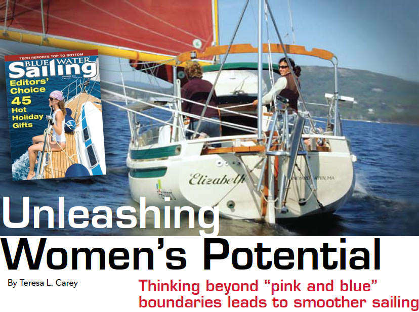 "Unleashing Women's Potential Thinking beyond ""pink and blue""boundaries leads to smoother sailing"